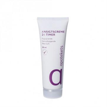 Apotekets 24 timers Ansigtscreme normal/kombineret hud m. parfume 80 ml.