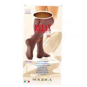 Solidea Relax Unisex 70 den.  let kompressions knæstrømpe til damer og herrer Camel Large 1 par
