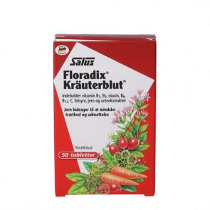 Floradix Kräuterblut - kosttilskud med ekstrakter af udvalgte urter og hyben, vitaminer og organisk bundet jern 50 tabletter