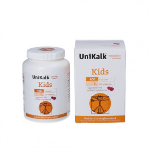 Unikalk Kids med Jordbær/hindbærsmag Tyggetabletter 90 stk.