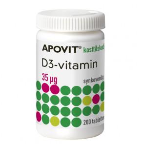 Apovit D3 35 mikg. D-Vitamin 200 stk.