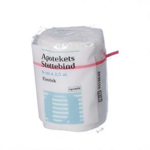 Apotekets Støttebind er et elastisk støttebind 6cm. x 2,5 m.