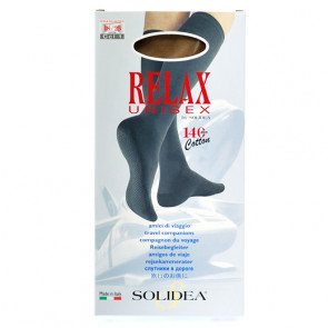 Solidea Relax Unisex 70 den.  let kompressions knæstrømpe til damer og herrer sort small 1 par