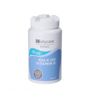 DailyCare Kalk med D-vitamin 10 mg 180 stk.