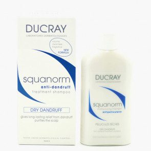 Ducray Squanorm Shampoo Dry Til tørre skæl/tør hårbund 200 ml.
