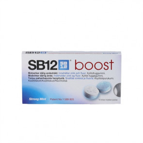SB 12 Boost Strong Mint - mod dårlig ånde 10 stk.