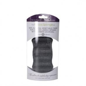 Konjac Body Sponge Premium (sort) til fedtet og uren hud