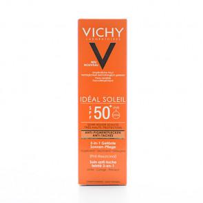 Vichy Idéal Soleil 3-i-1 tonet solcreme (SPF 50+)  50ml