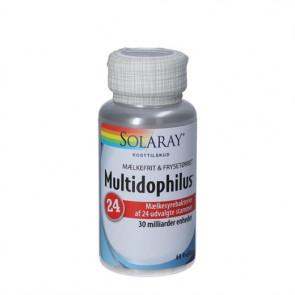 Solaray Multidophilus24 kapsler - kosttilskud med mælkesyrebakterier 60 stk.