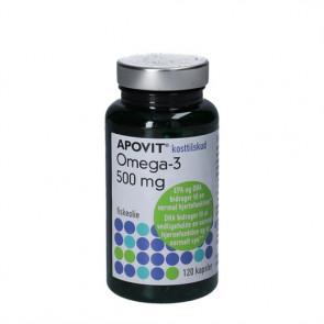 Apovit Omega-3 fiskeolie kapsler 500 Mg 120 stk.