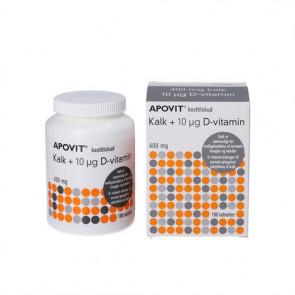 Apovit Kalk med 10 mikrogram D vitamin 180 stk.
