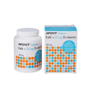 Apovit Kalk 20 mikrogram D-vitamin 180 stk.