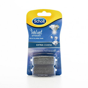 Scholl rulle-hoved (refill) til Scholl Velvet Smooth Electronic Foot File Ekstra Grov 2 stk.