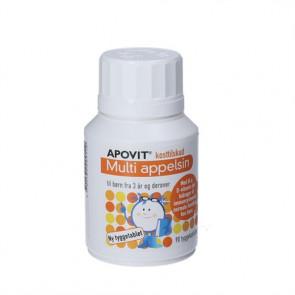 Apovit Multi appelsin til børn - multivitamin kosttilskud med tutti-frutti smag 90 stk.