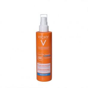 Vichy Capital Soleil Beach Protect solspray - sollotion (SPF 50+) til ansigt og krop 200 ml.