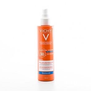 Vichy Capital Soleil Beach Protect solspray (SPF 30) til ansigt og krop 200 ml.