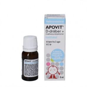 Apovit D-dråber + Mælkesyrebakterier 8 ml.