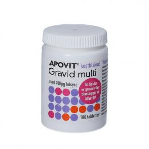 Apovit Gravid multi kosttilskud til gravide og kvinder der planlægger graviditet 100 stk.
