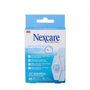 3M Nexcare Strong Hold Plasters er hudvenlige, sterile plastre 20 stk.