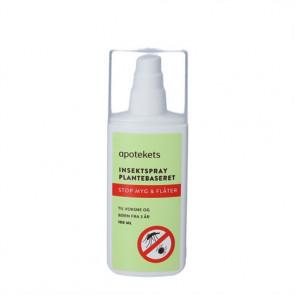 Apotekets Insektspray Plantebaseret Stop myg og flåter 100 ml.