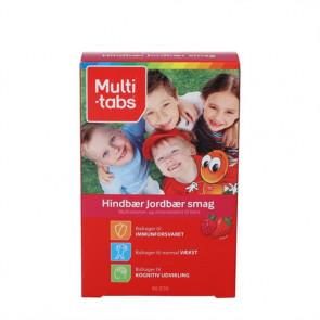 Multi-Tabs Børn Hindbær/Jordbær (90 stk)