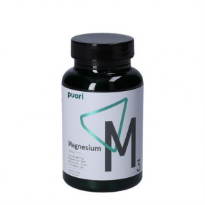 Puori Magnesium M3 - kosttilskud magnesium, æblesyre, zink og vitamin B6 60 stk.