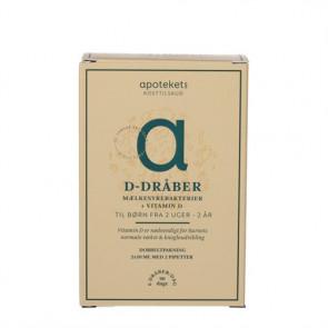 Apotekets D-dråber med Mælkesyrebakterier 2 X 10 ml.