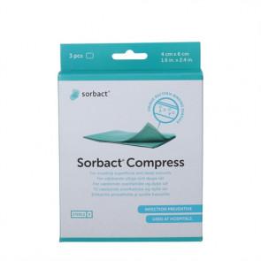 Sorbact Compress - sterilt kompres 4 x 6 cm. 3 stk.