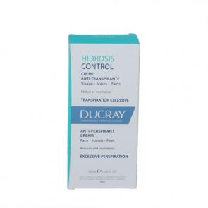 Ducray Hidrosis Control Cream er en sveddæmpende creme til ansigt, hænder og fødder. 50 ml
