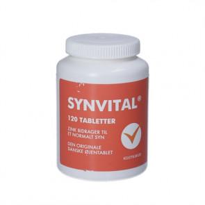 Synvital Tabletter -  kosttilskud indeholder zink, kobber, vitamin C, vitamin A og vitamin E 120 stk.