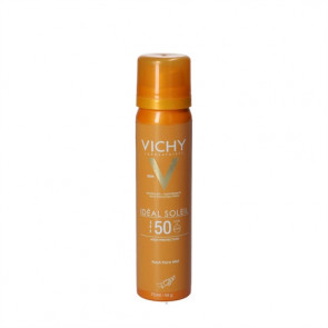 Vichy Idéal Soleil Fresh Face Mist solbeskyttelses spray (SPF 50+) til ansigtet 75 ml.