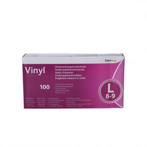 Careway Vinyl undersøgelseshandske Large str. 8-9 100 stk.