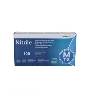 Careway Nitril stærk nitrilhandske str. 6-7 Small 100 stk.