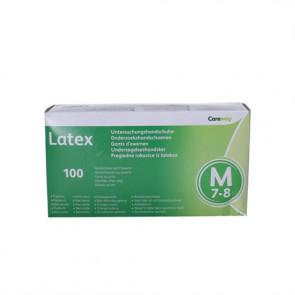 Careway Latex undersøgelseshandsker u/pudder Medium str. 7-8 100 stk.
